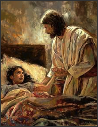 Jesus with sick girl